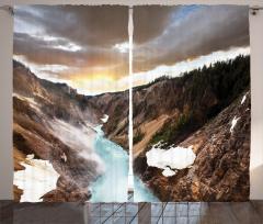 Kanyonda Gün Batımı Fon Perde Kanyonda Gün Batımı