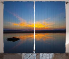 Göl Kıyısında Gün Doğumu Fon Perde Romantik