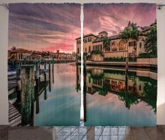 Venedik Kanalında Gün Doğumu Fon Perde