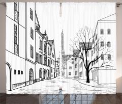Paris Sokakları Fon Perde Paris Sokakları