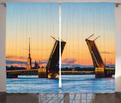 Saray Köprüsü Manzarası Fon Perde Denizde Gün Batımı