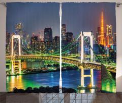 Tokyo Silüeti Gökkuşağı Köprüsü Fon Perde Gökkuşağı Köprüsü Japonya
