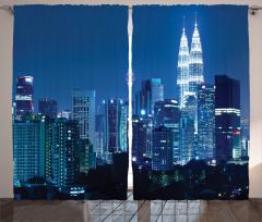 Kuala Lumpur Fon Perde Şehir Işıkları