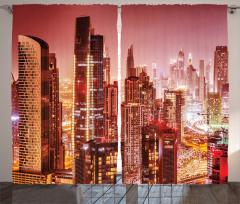 Dubai Gökdelenleri Fon Perde Modern Mimari Gökdelen