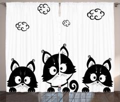 Sevimli Kedi Yavruları Fon Perde Sevimli Kedi Yavruları