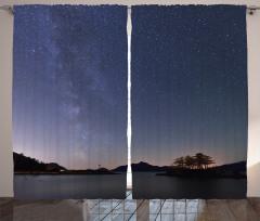 Samanyolu Galaksisi Temalı Fon Perde Yıldızlar