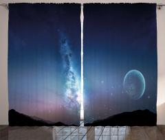 Samanyolu Galaksisi Temalı Fon Perde Uzay Kozmos