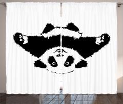 Sevimli Panda Fon Perde Sevimli Panda Desenli