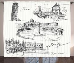 İtalya Mimarisi Fon Perde Pisa Kulesi Roma Venedik