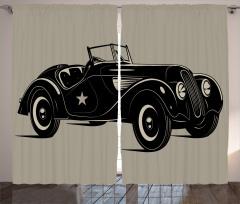 Klasik İtalyan Arabası Fon Perde Klasik İtalyan Arabası Baskılı