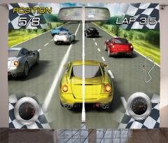 Yarış Oyunu Fon Perde Motor Sporları