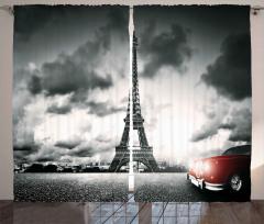 Romantik Paris Fon Perde Eyfel Kulesi