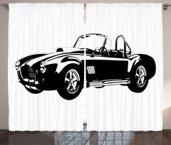 Klasik Araba Tutkusu Fon Perde Siyah Klasik Araba Temalı
