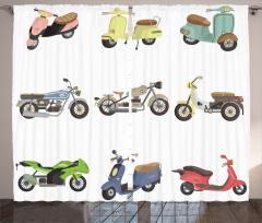 Nostaljik Fon Perde Motosiklet Koleksiyonu Temalı