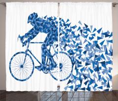 Çocuklar için Fon Perde Renkli Kelebekler Bisiklet