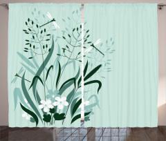 Bahar Çiçeği Yusufçuk Fon Perde Bahar Çiçekleri ve Yusufçuklar