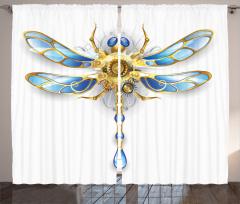 Altın Yusufçuk Desenli Fon Perde Modern Sanat Trend