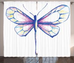 Pastel Yusufçuk Desenli Fon Perde Pastel Renkler Şık Beyaz