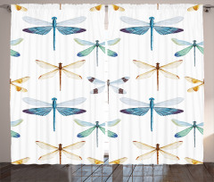 Şık Yusufçuk Desenli Fon Perde Trend Şık Tasarım Beyaz
