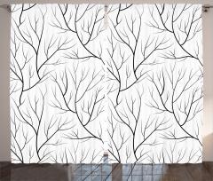 Ağaç Dalları Fon Perde Sonbahar Temalı Ağaç Dalları