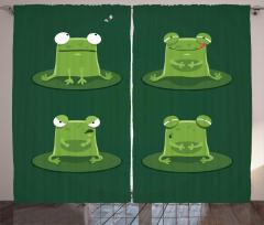 Sevimli Yeşil Kurbağa Fon Perde Sevimli Yeşil Kurbağa