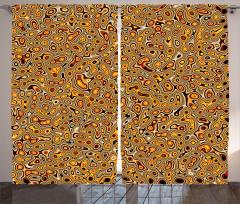 Sarı Kahverengi Şal Fon Perde Şık Tasarım