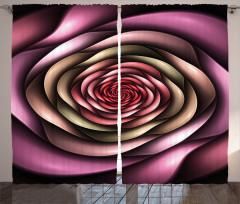 Mor Pembe Girdap Çiçek Fon Perde Dekoratif