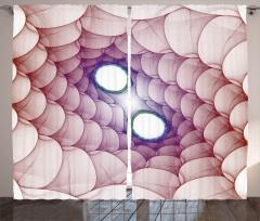 3D Etkili Girdap Fon Perde Kırmızı ve Mor