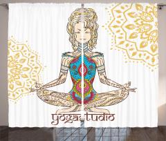 Yoga ve Rengarenk Kız Fon Perde Krem Beyaz