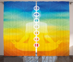 Sarı Mavi Meditasyon Fon Perde Çakralı