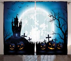Ay ve Bal Kabağı Fon Perde Cadılar Bayramı