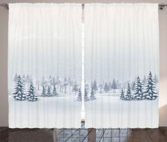Romantik Kar Yağışı Fon Perde Romantik Kar Yağışı Manzaralı