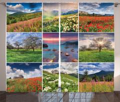 Doğa Manzarası Desenli Fon Perde Doğa Manzaraları