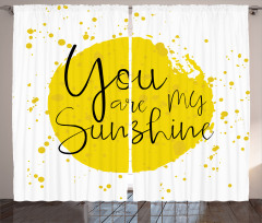 Aşk Temalı Fon Perde Romantik Sarı Sulu Boya Şık