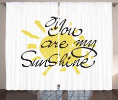 Sevgililer Günü İçin Fon Perde Sarı Romantik Şık