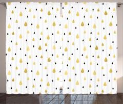Yağmur Damlaları Fon Perde Yağmur Damlacıklı Şık Tasarım
