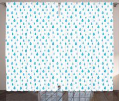 Mavi Yağmur Damlacıklı Fon Perde Mavi Yağmur Damlacıklı