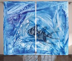 Balık Şık Tasarım Fon Perde Balık Desenleri Modern Sanat Trend