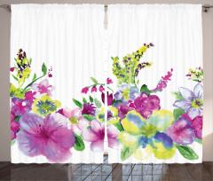 Şık Bahar Çiçekleri Fon Perde Bahar Çiçekleri