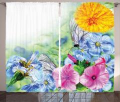 Doğada Bahar Coşkusu Fon Perde Bahar Çiçekleri