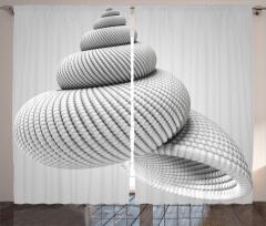 3D Etkili Deniz Kabuğu Fon Perde Girdap