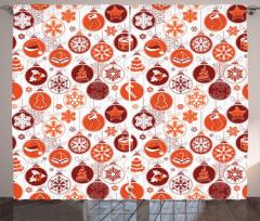 Yılbaşı Temalı Fon Perde Kırmızı Beyaz Noel Kar