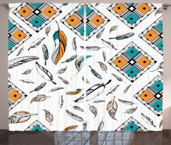 Tüy Desenli Fon Perde Siyah Beyaz Mavi Şık Tasarım