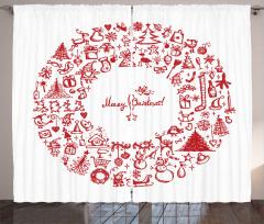 Mutlu Noeller Fon Perde Nostaljik Dekoratif