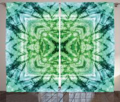 Yıldız Formlu Yeşil Fon Perde Şık