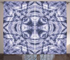 Yıldız Formlu Lacivert Fon Perde Dekoratif
