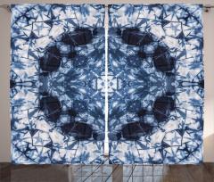 Lacivert Simetrik Fon Perde Şık Tasarım