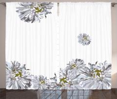 Şık Bahar Çiçekleri Fon Perde Bahar Temalı Çiçekli Şık Tasarım