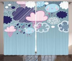 Renkli Yağmur Bulutları Fon Perde Rengarenk Bulutlar Yağmur
