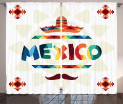 Güneş ve Meksikalı Fon Perde Kilim Etkili